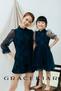 CH0155 Embroidered Lace Cheongsam Dress