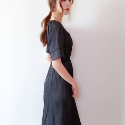 D0609 Button Midi Dress