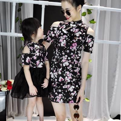 CH0083 Floral Cheongsam Tutu Dress (Kids)