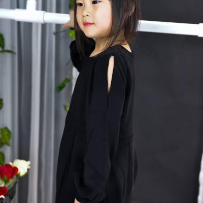 CH0084 Long Sleeve Strappy Jumpsuit (Kids)