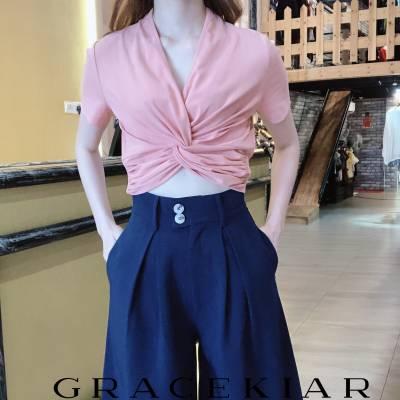 LP0133 A-Line Inverted Pleats Pants