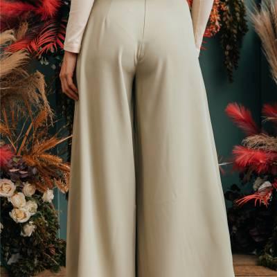 LP0136 Palazzo pants with belt