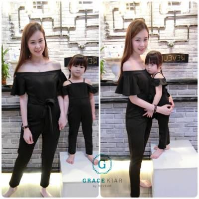 CH0079 Off-shoulder Flared Sleeve Jumpsuit (Kids)