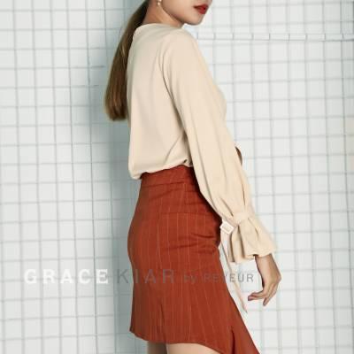 S0199 Stripe Chiffon Skirt
