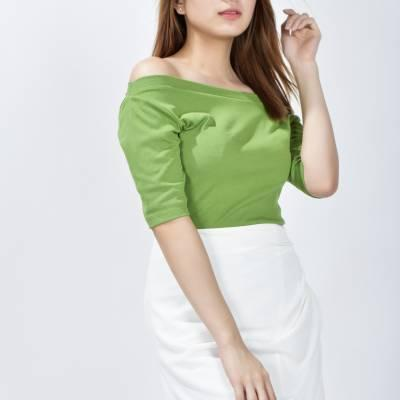 S0245 Draped A-Line Skirt