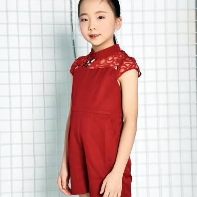 CH0127 Lacey Cheongsam Jumpsuit (Kids)
