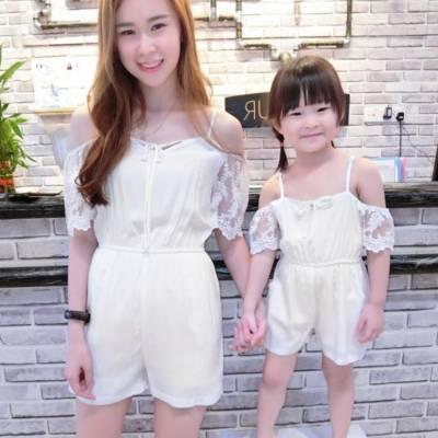 CH0080 Lacey Open-shoulder Jumpsuit (Kids)
