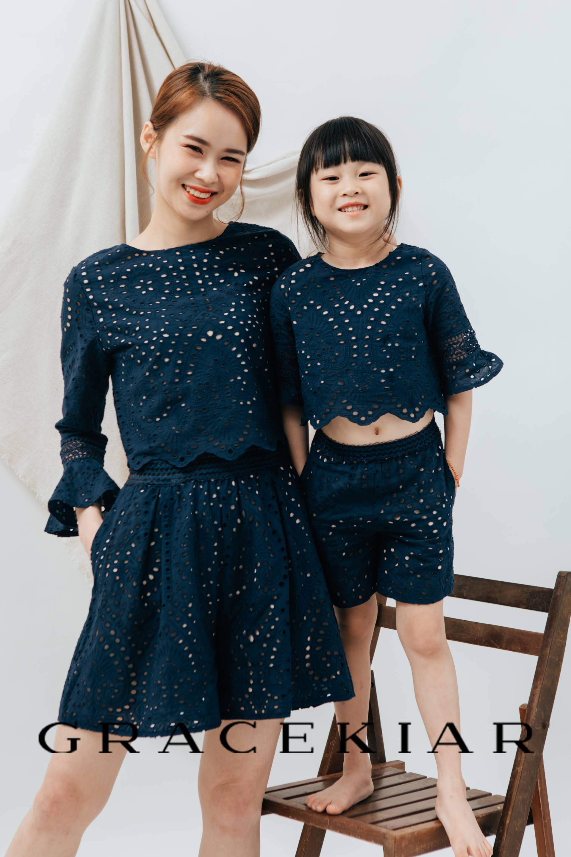 CH0150 Flare Sleeves Lace Set