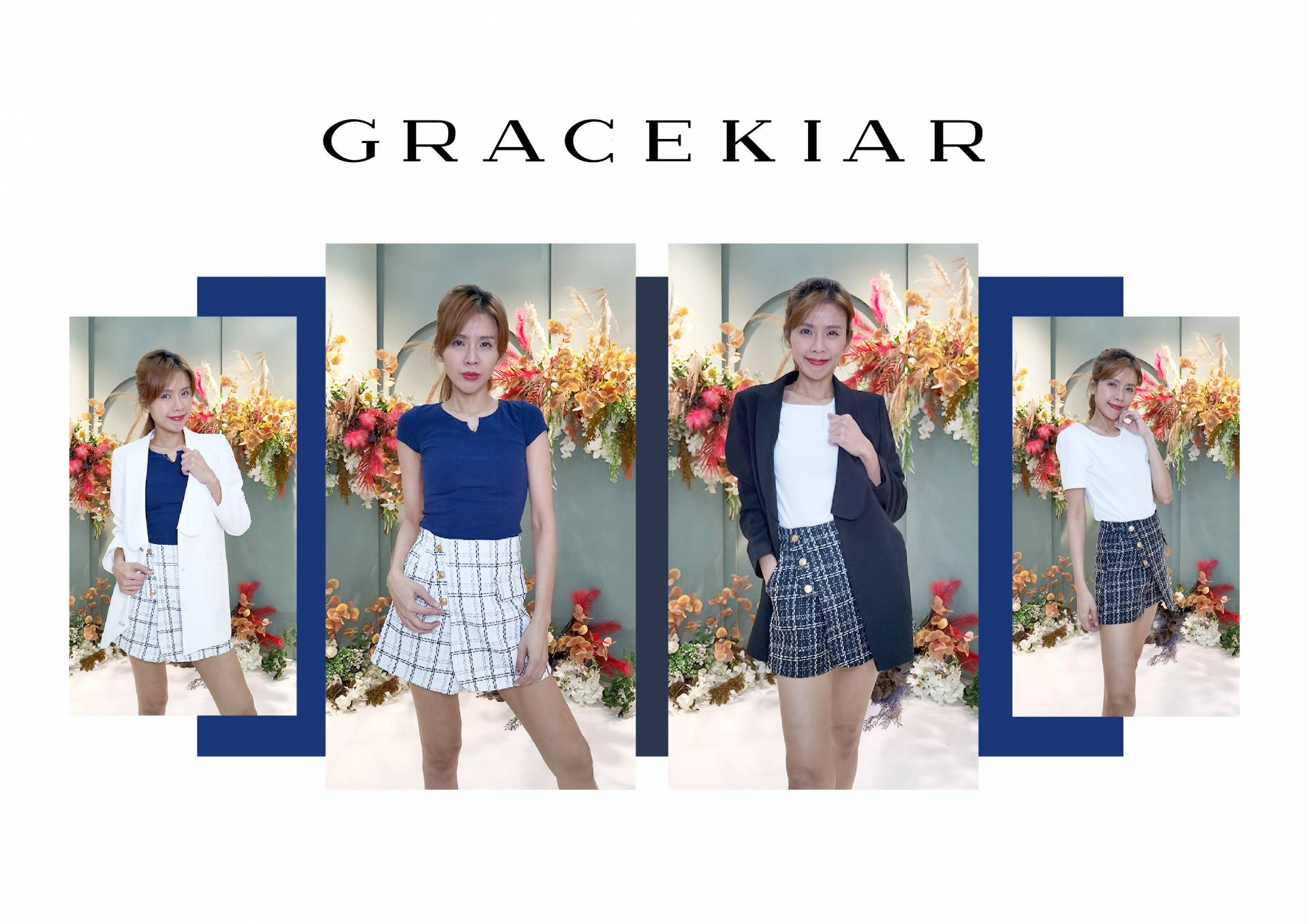 S0258 Classic Checked Print Skirts