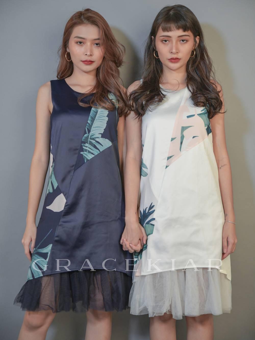 D0618 Exclusive design Floral Mesh Dress