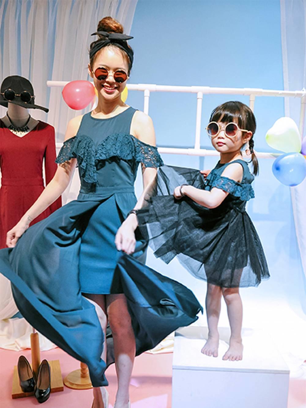 CH0082 Lacy Flounce Open-shoulder Tutu-Dress (Kids)