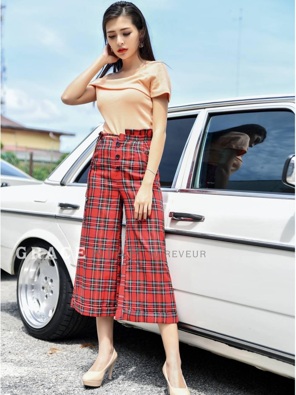 LP0118 Chekered Pants