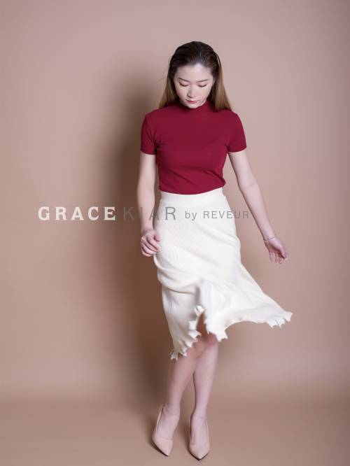 S0172 Irregular Long Skirt