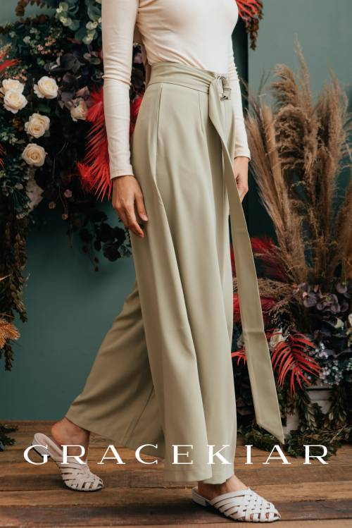 LP0136 Palazzo pants with belt