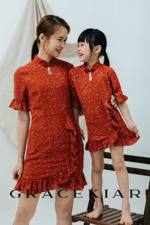 D0648 Chongsam with Ruffles