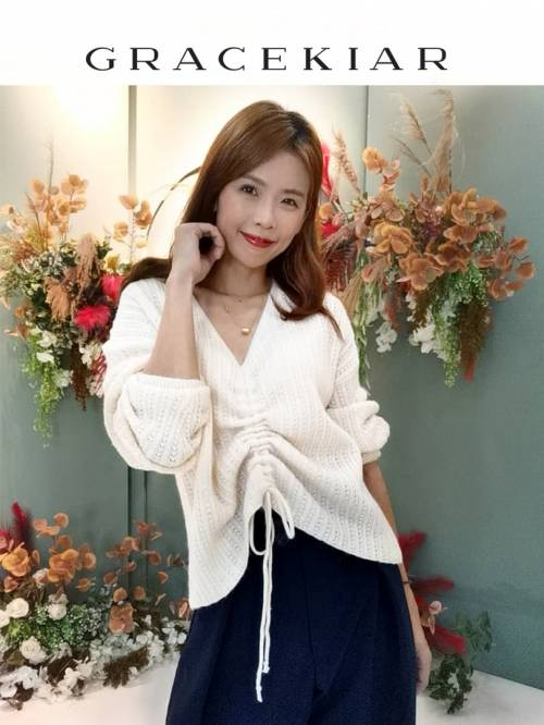 T0878 Oversize Gathered Sweater