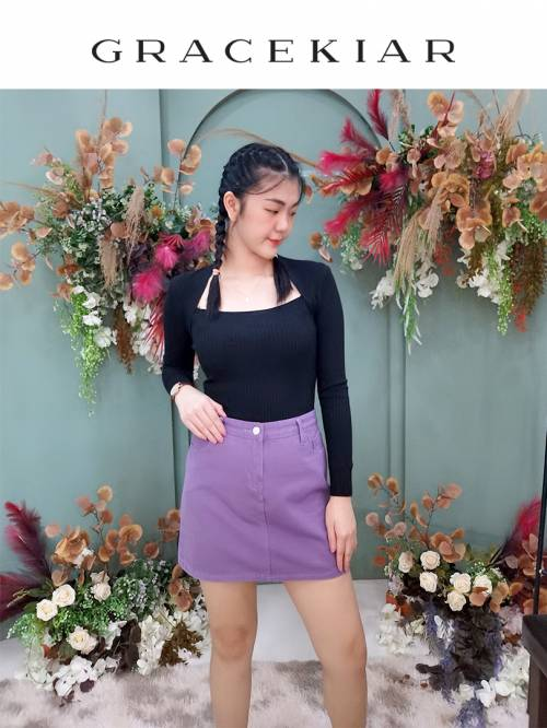 S0269 A-Line Jeans Skirt
