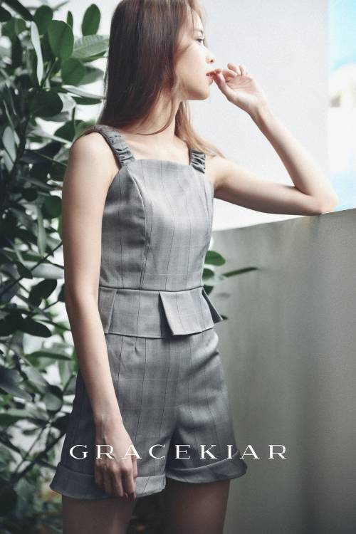 J0178 Checkered Jumpsuit